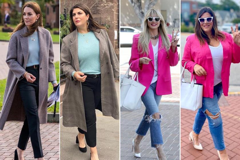 Így fest ugyanaz a ruha egy vékony és egy kerek nőn: a sztárok divatos szettjeit másolja le a blogger