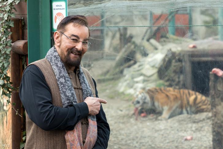 Kabir Bedi indiai színész, az 1970-es években készült Sandokan – A maláj tigris című olasz tévésorozat főszereplője 2019. február 15-én a Fővárosi Állat- és Növénykertben