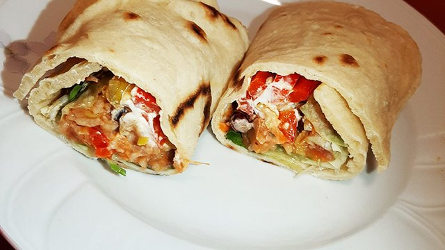 Vegán burrito