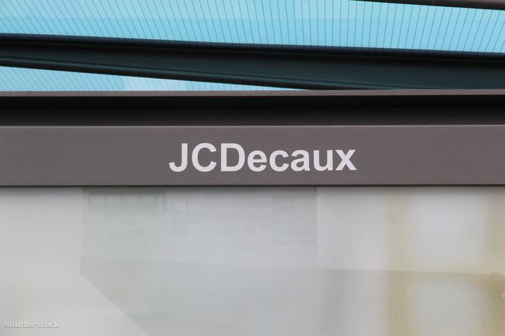 JCDecaux reklámtábla.