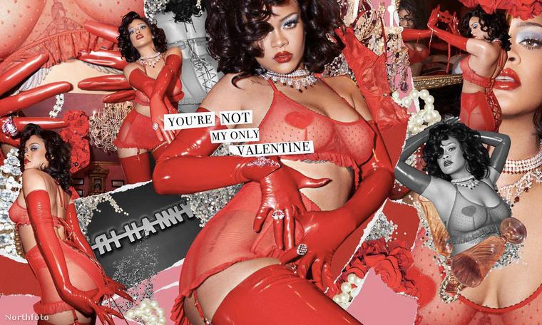 A napokban egy apróbb képen már láthatta, hogy Rihanna nagy erőkkel reklámozza a fehérneműmárkája új, Bálint-napra kiadott kollekcióját