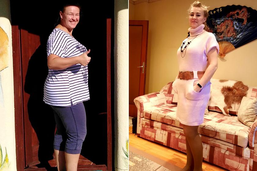Emese több mint 25 kilótól szabadult meg egy év alatt.