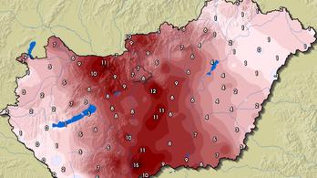 Hatalmas hőingadozásra ébredt Magyarország