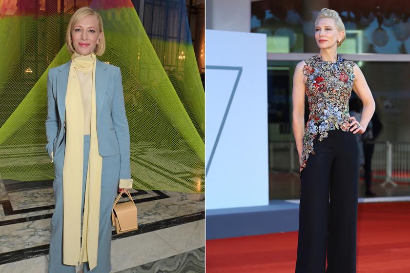 Imádjuk az 51 éves Cate Blanchett nőies szettjeit: a színésznő a modern sikk megtestesítője