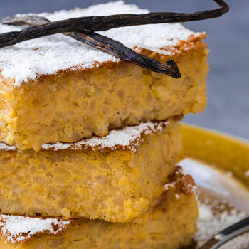 Krémes rizsfelfújt olasz módra: vaníliásan, rizottórizsből a legfinomabb