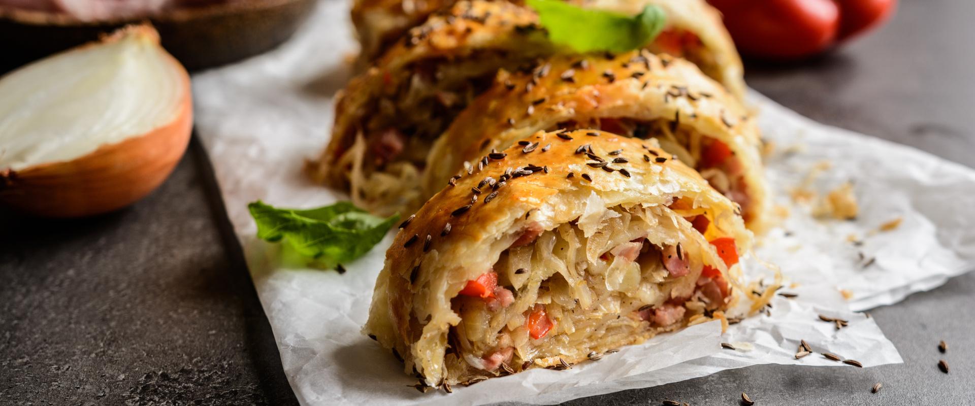 káposztás rétes baconnel cover