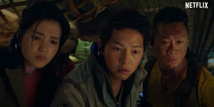 Egy jelenet Az űrsepregetők Dél-koreai sci-fiből.