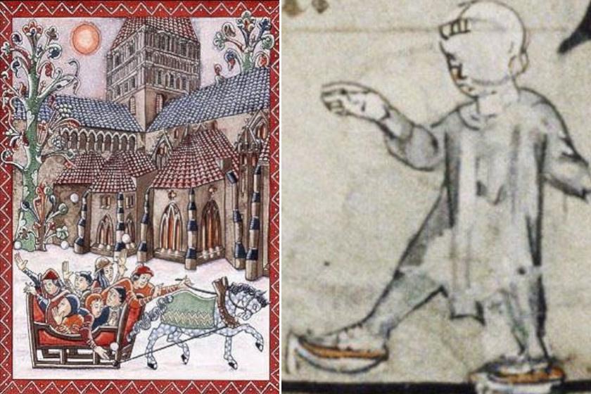 Szán és korcsolya középkori ábrázolásokon.
