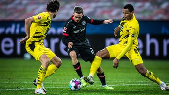 A Leverkusen nyerte a Dortmund elleni rangadót