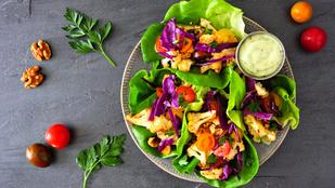 Mézes téli saláta – langyosan, sok zöldséggel a legfinomabb