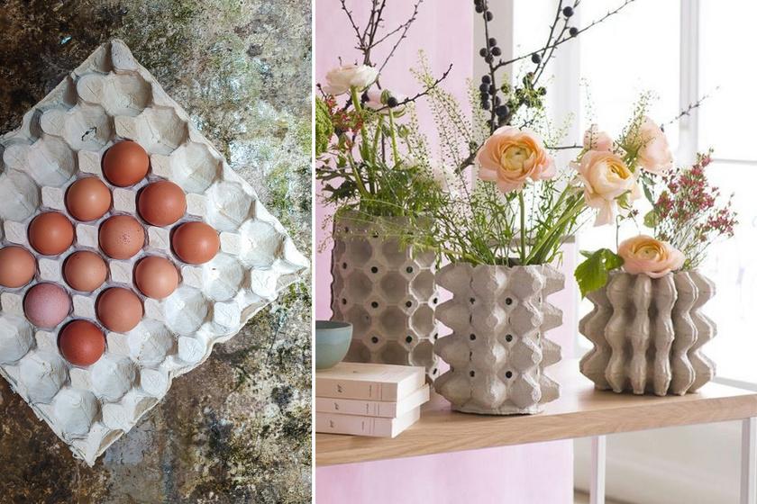 Zseniális, milyen ötletes cuccokat készítettek tojástartóból: van, ami drága dizájnerkaspónak látszik, pedig nem az