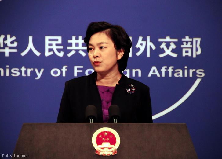 Hua Csun-jing, kínai külügyi szóvivő.