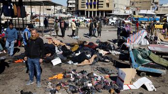 32 embert megölt két öngyilkos merénylő egy bagdadi piacon