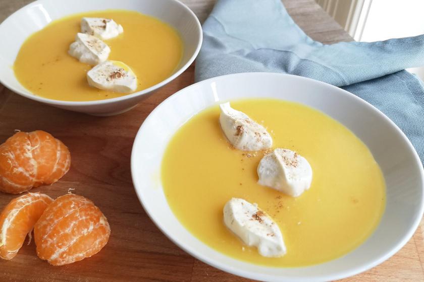 mandarinkrém leves recept