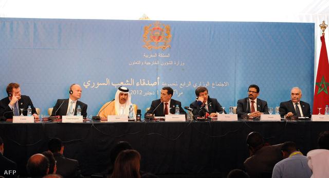 Résztvevők a Szíria Barátai konferencián