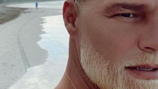Ricky Martin annyira unatkozott, hogy kihidrogénezte a szakállát