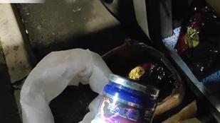 Magáénak vallotta a sofőr a több mint kétszáz kilogramm vízipipadohányt