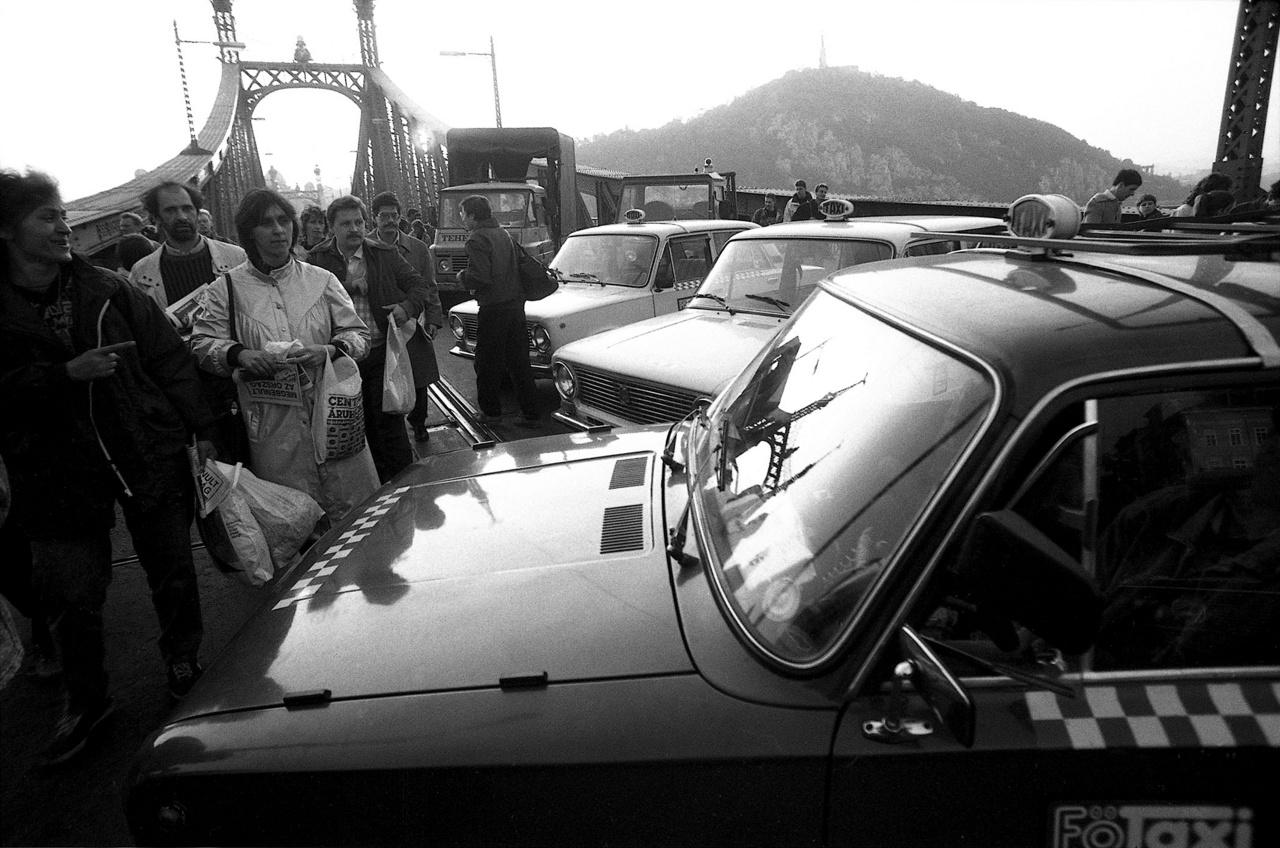 Szabadság híd / Taxis blokád / 1990