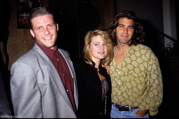 Doug Savant, aki később a Született feleségek egyik sztárja lett, Dedee Pfeiffer és George Clooney egy 1990. február 25-re datált képen. Kattintson, nézze meg nagyobb verzióban!