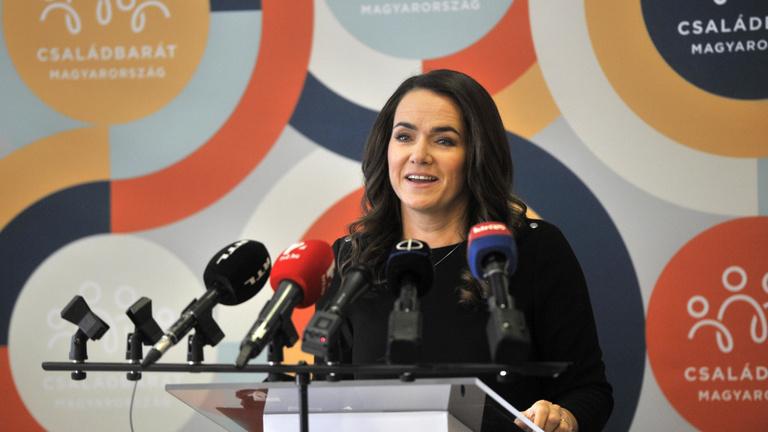 Novák Katalin: Magyarországon nagyobb a békesség, mert a magyarok jellemzően családközpontúak