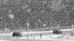 Jön a hó, és szépen beborítja a fél Magyarországot