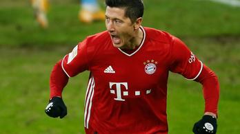 Lewandowski Bundesliga-rekorder lett, Kimmich három gólpasszt adott