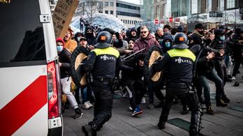 Lázadnak a hollandok a kijárási tilalom ellen, több városban erőszakba fulladt a tüntetés