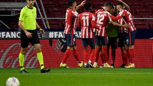 A Valencia legyőzésével menetel tovább az Atlético Madrid