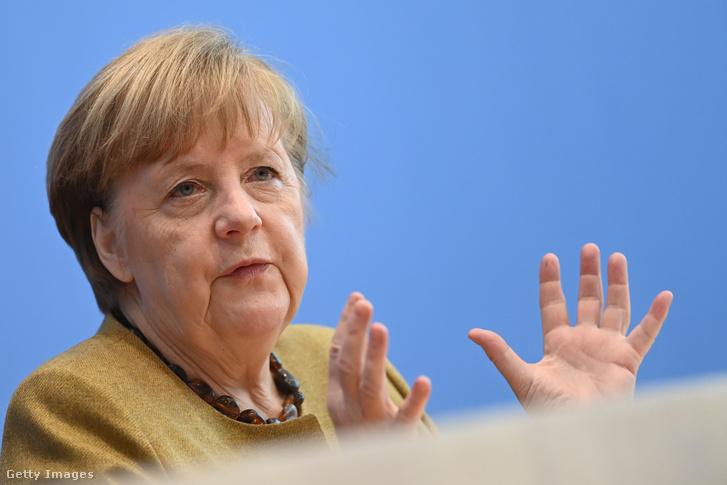 Angela Merkel, német kancellár.