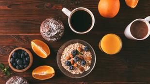 Remek hétvégi reggeli: felnőtt zabkása étcsokival, aszalt meggyel és kávélikőrrel