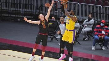 LeBron James korábbi csapata otthonában dobott szezoncsúcsot