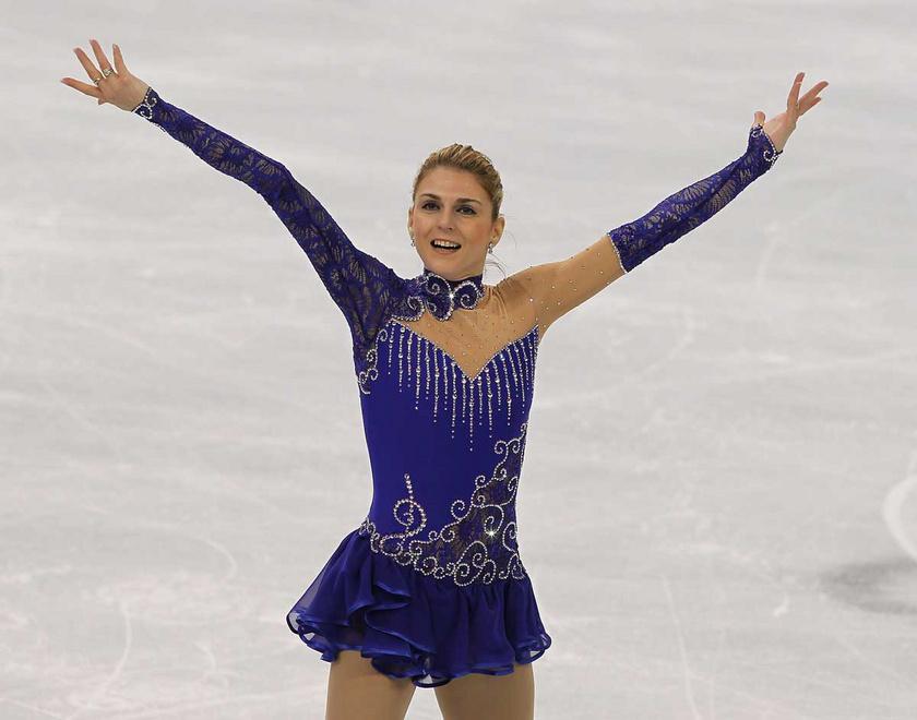 Sebestyén Júlia kűrjével a vancouveri téli olimpia műkorcsolya- és jégtáncbajnokságának női versenyében a vancouveri Pacific Coliseumban 2010. február 25-én.