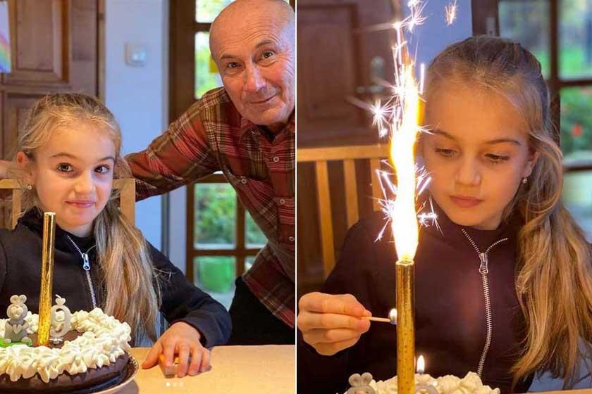 Németh Lajos öt unokája közül a legkisebb, Berta is már kilencéves. 2020 novemberében ünnepelte a születésnapját.