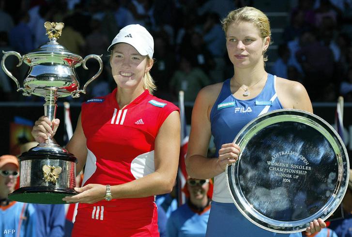 2004-ben épp honfitársát, Kim Clijsterst (jobbra) győzte le az Australian Open fináléjában