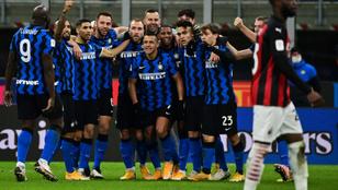 Ibrahimovicot kiállították, az Inter a 97. percben verte az AC Milant