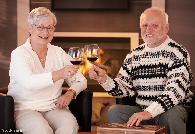stockfresh 624033 portrait-of-senior-couple-clinking-wine-glasse