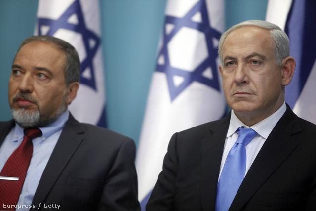 Avigdor Liberman és Benjámin Netanjahu