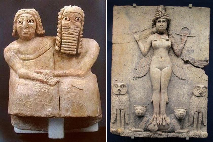 Házaspár és Istár istennő