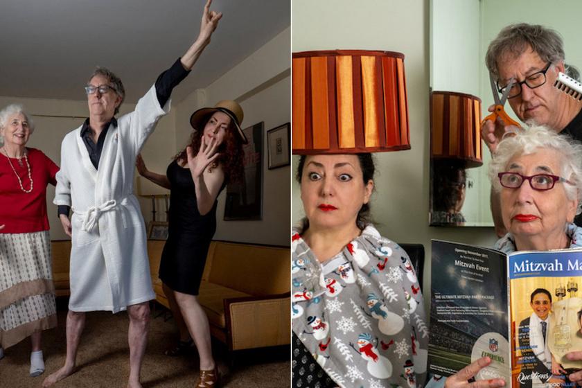 Anyjával és exfeleségével ragadt karanténba a férfi: vicces képeken dokumentálta mindennapjaikat