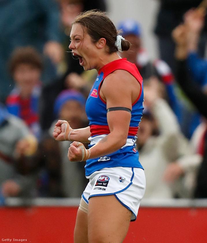 Így néz ki a gólöröm a női ausztrál futballban.