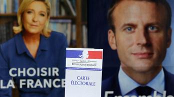 Fej-fej mellett Marine Le Pen és Emmanuel Macron népszerűsége Franciaországban