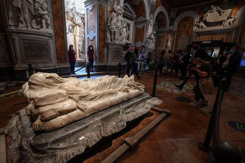 A szobor a Sansevero Kápolnában.
