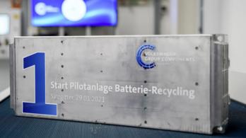 Akkumulátor-újrahasznosító üzemet nyitott a Volkswagen