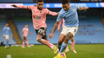 A listavezető Manchester City minimalista sikere a sereghajtó ellen