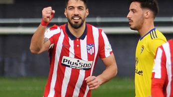 Suárez megint lecsapott, fél kézzel már fogja az aranyat az Atlético
