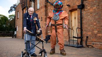 Koronavírusos a 100 éves veterán, aki rekordösszeget gyűjtött a védekezésre