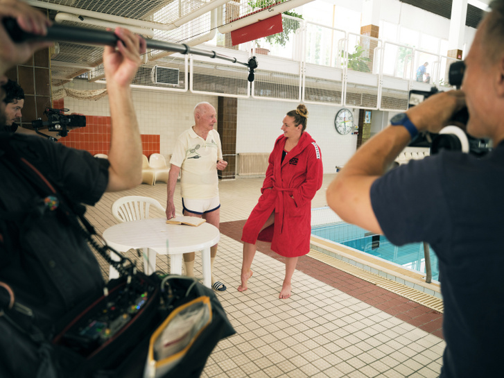 Werkfotó a Katinka c. hivatalos életrajzi dokumentumfilm készítéséről