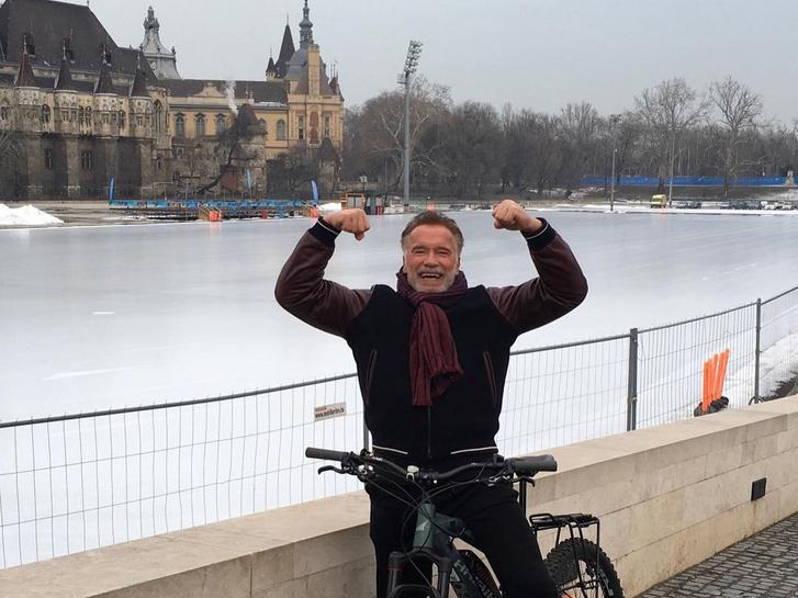 Arnold Schwarzenegger Budapesten 2019 januárjában