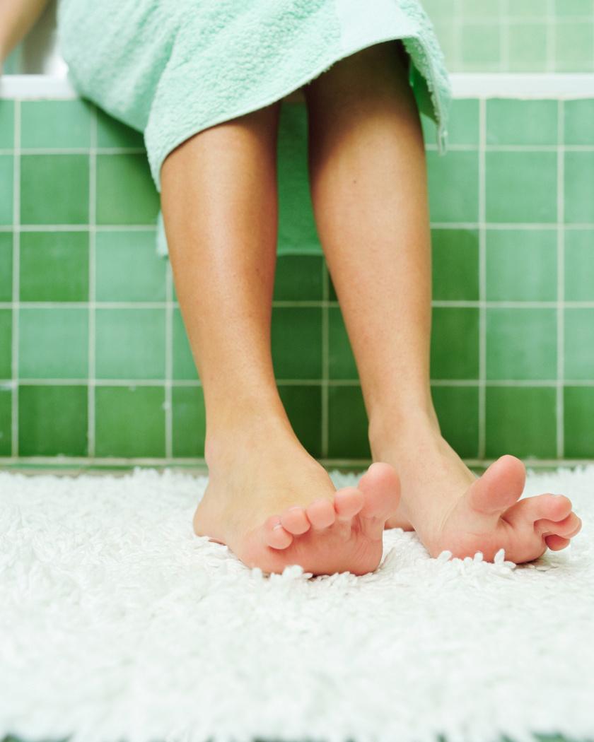 lábfej mosás