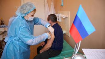 Orosz vakcinával oltanak a szakadár ukrán területen